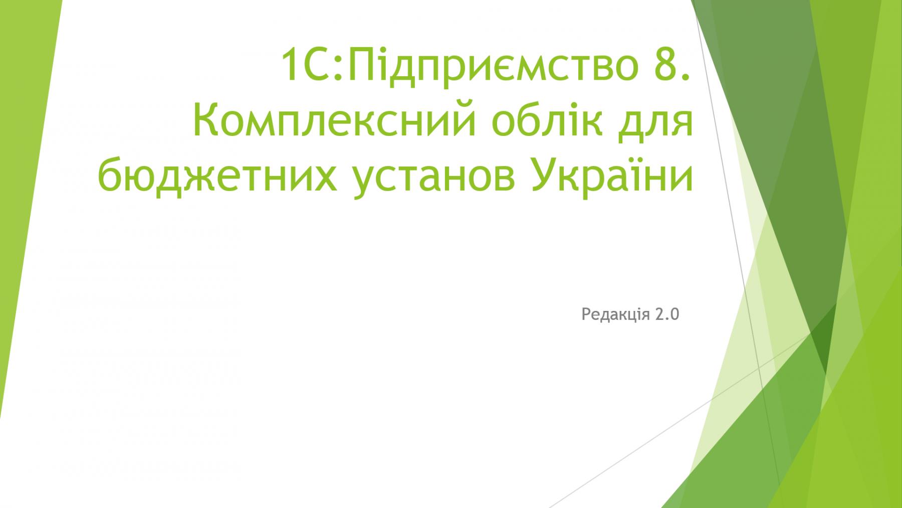 Презентація 1С:Бюджет 2.0