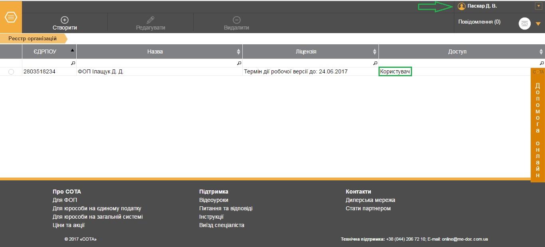 Підприємство у веб-сервісі СОТА