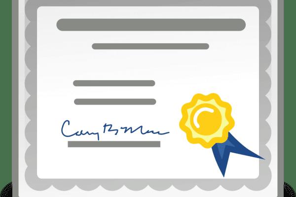 Друк паперової форми сертифікату в Медок