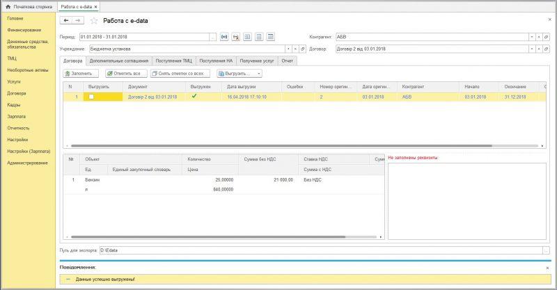 Работа с e-data в UA-Бюджет